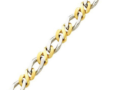 Two Tone Plated Mens Curb Chain