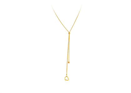 Long Lariat Fashionable 14 KT Gold Plated Brass Pendant