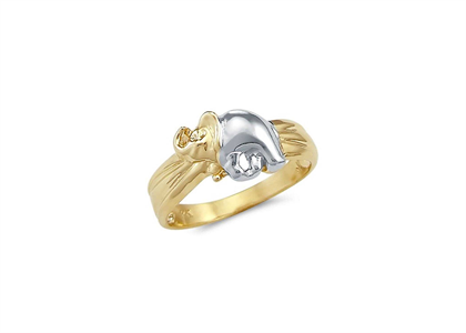 Two Tone Plated Elephant Ring