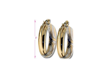 Two Tone Plated | Fashion Earrings