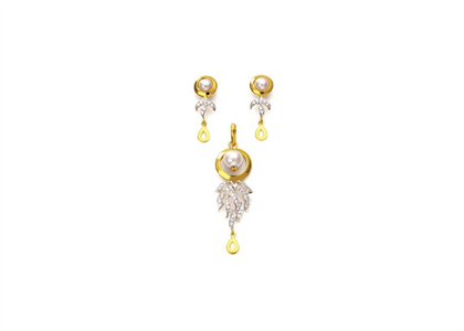 Dual Tone Plated | Pearl Pendant Sets