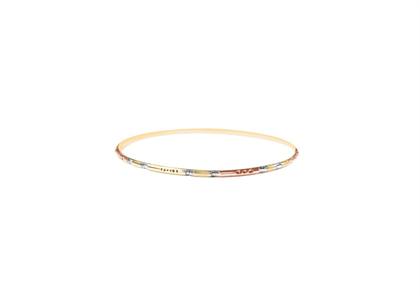 3 Tone Plated | Diamond Cut Bangles