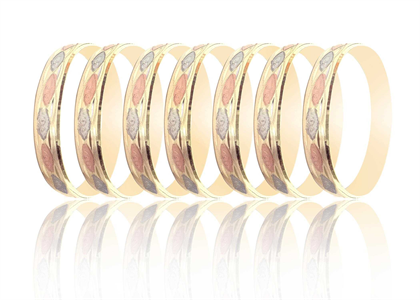 15MM Three Tone Plated Bangles
