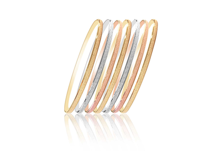 Tri Color 7 Days Semanario Bangles 3 mm