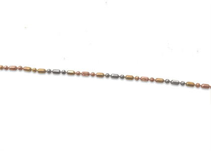 Three Tone Plated 1.50 mm Beaded Chain