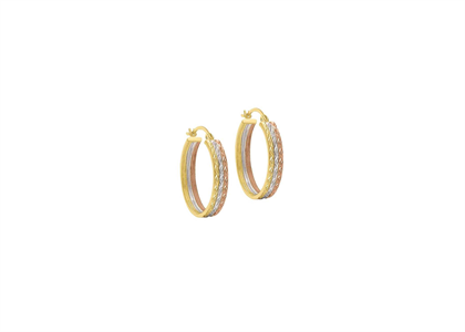 Three Tone Plated Seminario Earring