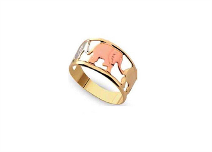 Three Tone Plated Elephant Rings