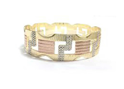 Three Tone Plated | Diamond Cut Bangles