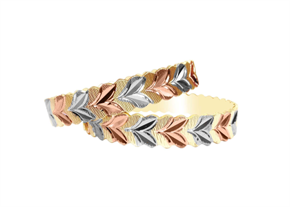 3 Tone Plated | Machine Cut Bangles