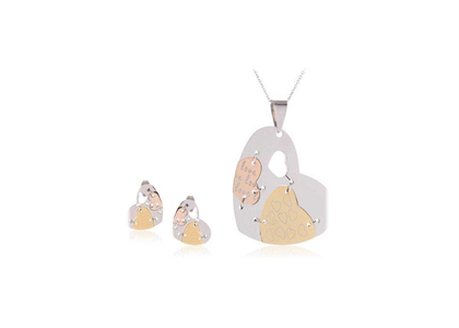 3 Tone Plated | Alphabet Pendant Sets