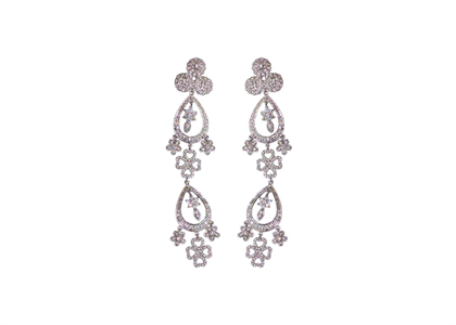 Rhodium Plated | Chandelier Earrings