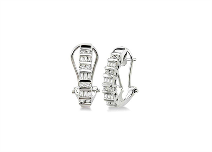Rhodium Plated | Clip Earrings