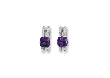CZ Studded Gemstone Earring