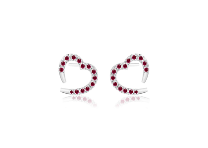 Heart Shape Stud Earring
