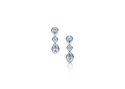 Rhodium Plated | Trilogy Collection Earrings
