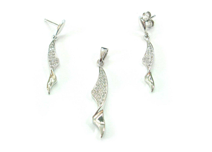 Rhodium Plated | Micro Pave Pendant Sets