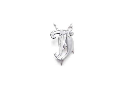 Rhodium Plated | Alphabet Pendants
