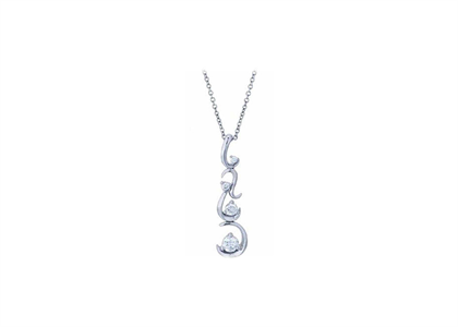 Rhodium Plated | Journey pendants