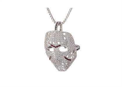 Hockey Mask Iced Out Pendant