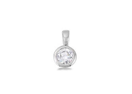 Rhodium Plated | Solitaire Stud Pendants