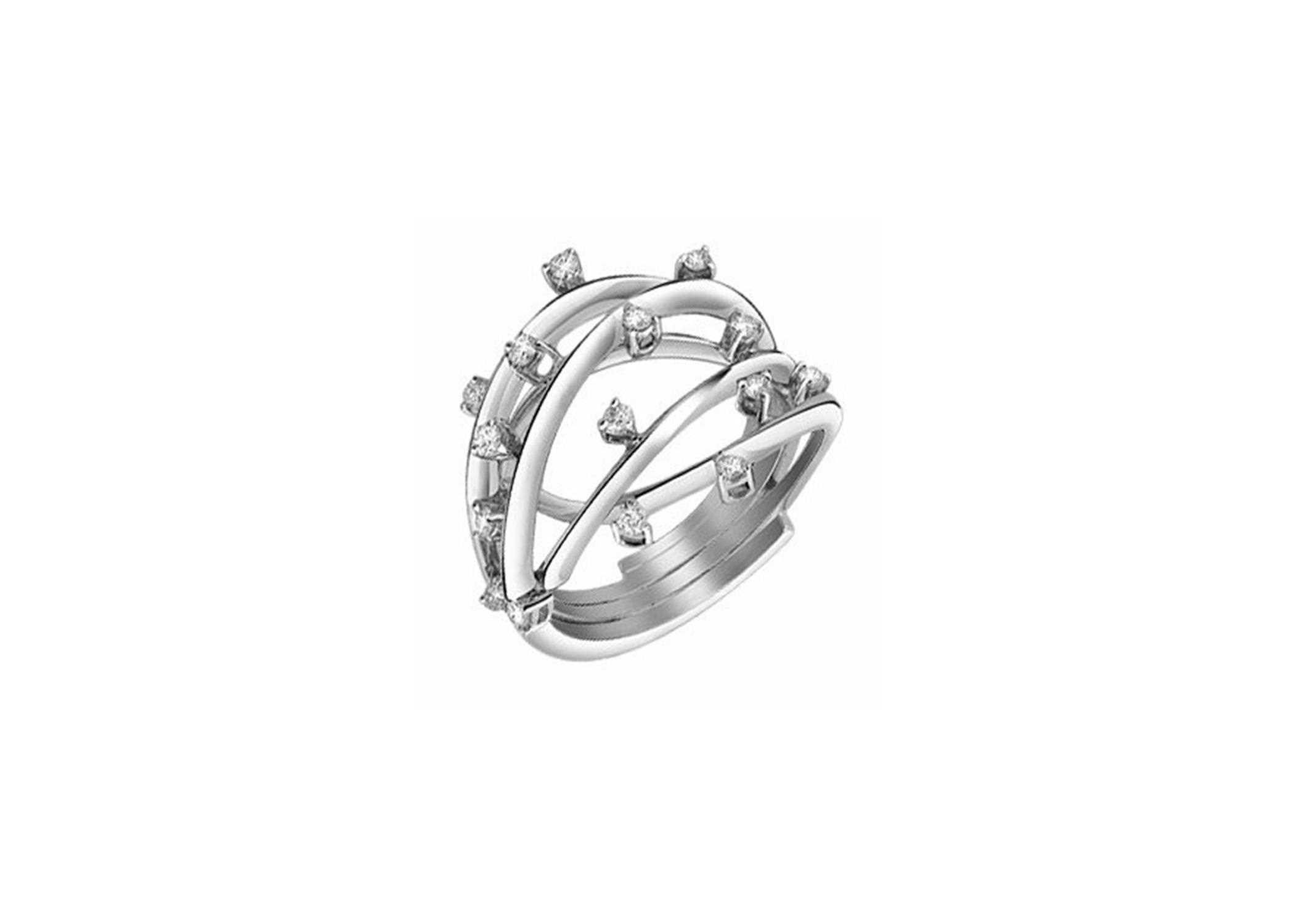 sterling ring knot silver p rings rhodium plated