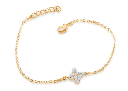 Gold Plated CZ Studded Girls Delicate Bracelet