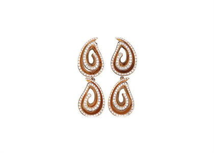 Rose Gold Plated | Chandelier Earrings