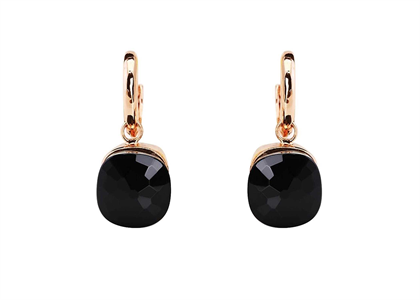 Rose Gold Plated Gemstone Dangle Earring
