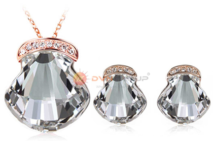 Rose Gold Plated | CZ Studded Pendant Sets