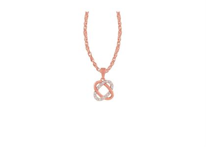 Rose Gold Plated | CZ Studded Pendants