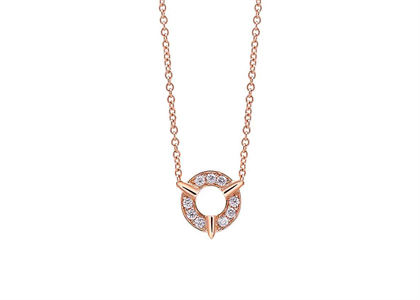 Open Circle CZ Studded Pendant