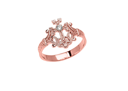 Solitaire Cross Fashion Ring