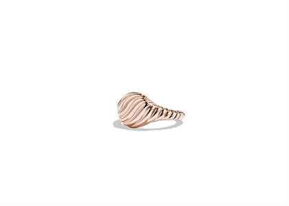Rose Gold Plated Twisted Mens Ring
