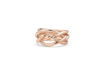 Rose Gold Plated Twisted Ring