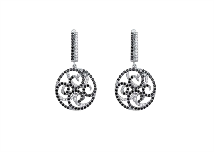 Silver Plated CZ Studded Gemstone Dangle Earring