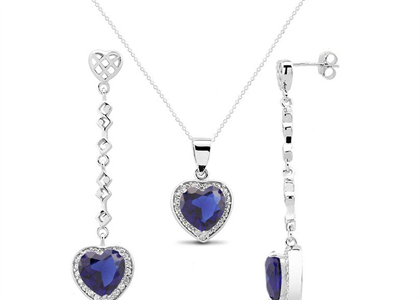Silver Plated | Hearts Pendant Sets