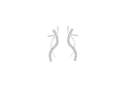White Gold Plated | Cubic Zirconia Set Stud Earrings