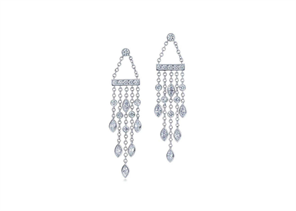 White Gold Plated CZ Studded Fashion Earrings