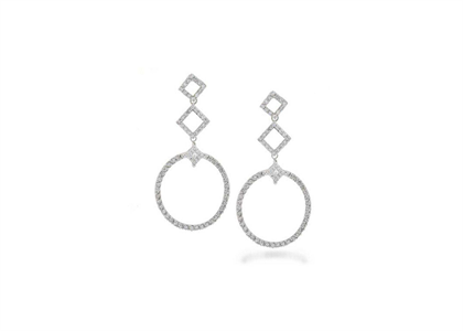 White Gold Plated | Gallery Earrings