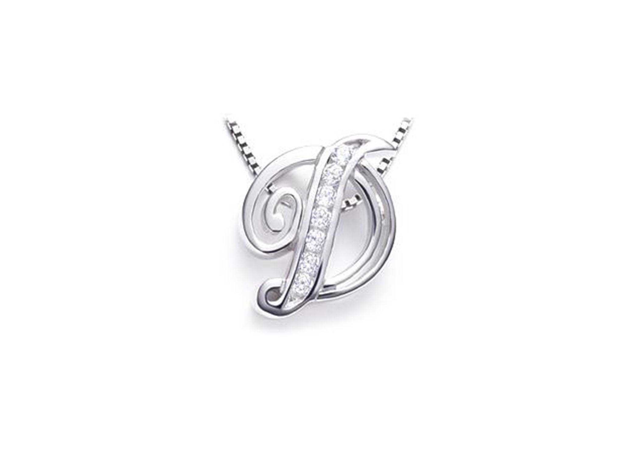 White gold plated alphabet pendants 1 2 aloadofball Image collections