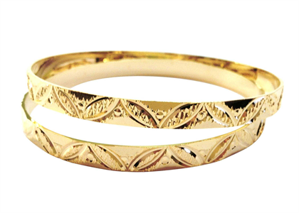 Gold Plated | Moroccan Bangles