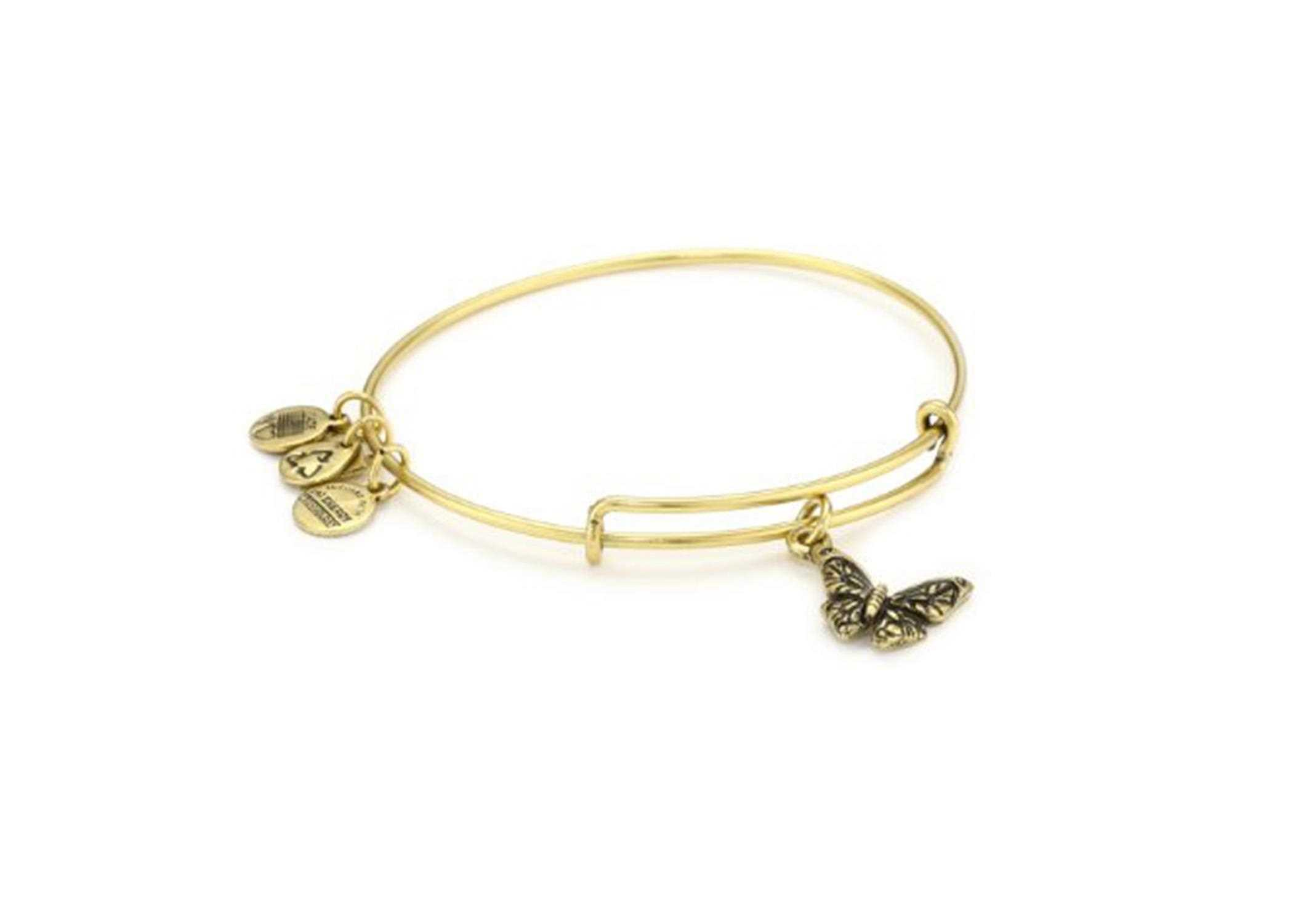 Gold Plated Womens Butterfly Charm Bracelet b64c229b7