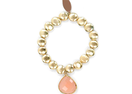 Gold Plated Womens Gemstone Bracelet