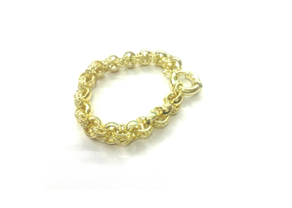Gold Plated Mens Belcher Bracelet