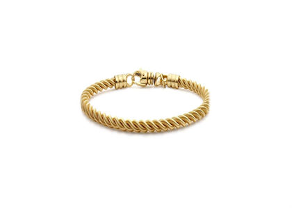 Gold Plated Mens Twisted Bracelet