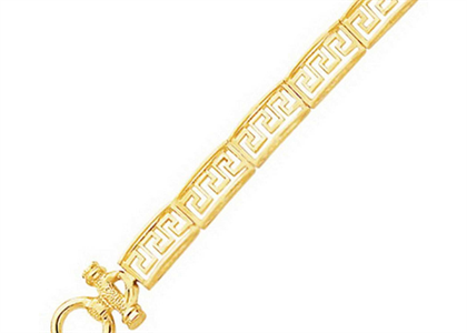 Gold Plated Toggle Mens Bracelet