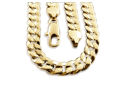 Gold Plated Mens Curb Chain