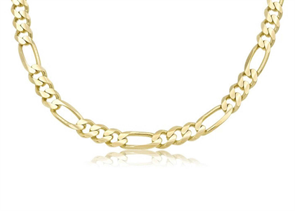 Gold Plated | High Polish Figaro chains