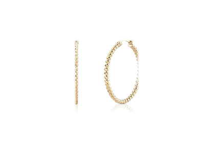 Gold Plated | Lace Hoop Earrings