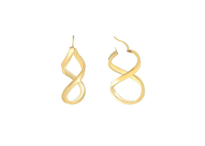 Gold Plated | Plain Hoop Earrings